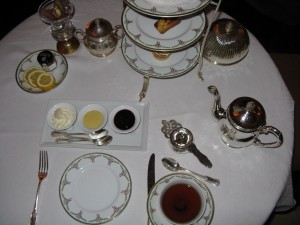 Table Setting at the Astor Court Tea (image credit HighTea.com) & Afternoon Tea at St. Regis Hotel New York