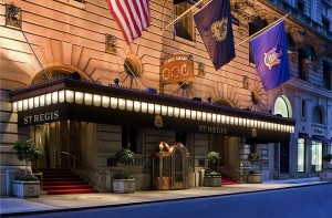 St. Regis Hotel Entrance (image courtesy of St. Regis Hotel)