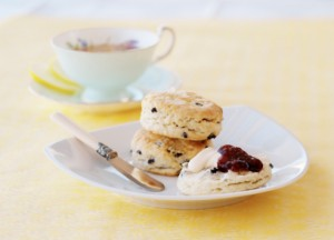Tea time, with scones, clotted cream and jam