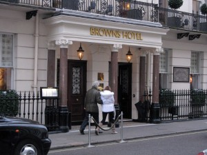 Brown's Hotel Entrance, London ©HighTea.com