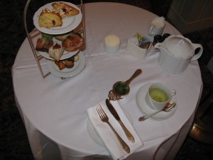 Table Setting for Afternoon Tea at The Waldorf Astoria (image credit: HighTea.com)