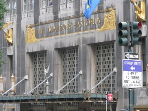 Waldorf Astoria's Park Ave Entrance (image credit: HighTea.com)