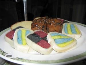 Battenberg cake designed like artwork at The Merrion Hotel ©HighTea.com