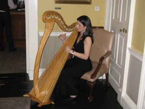 Harpist at Merrion Hotel Afternoon Tea © HighTea.com