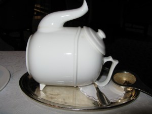 Teapot Steeping On Its Side image©HIghTea.com