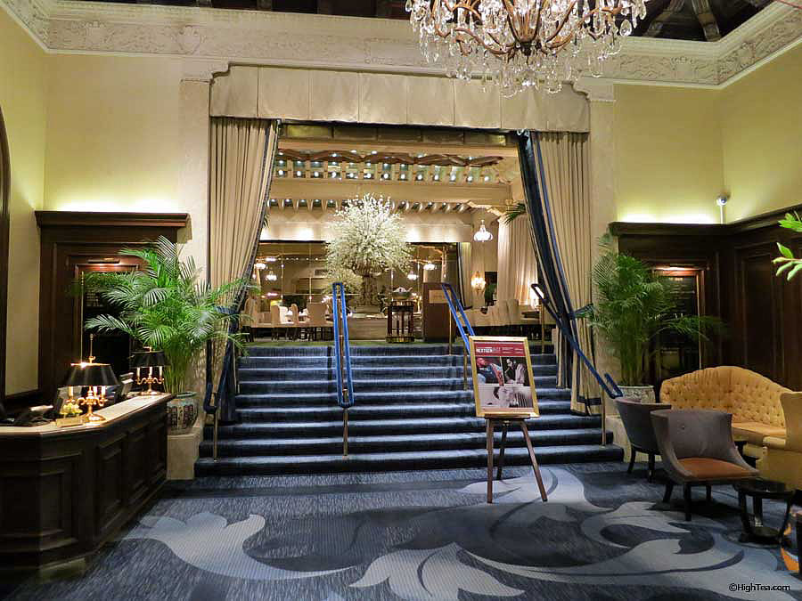 Drake Hotel Chicago entrance to the Palm Court for afternoon tea