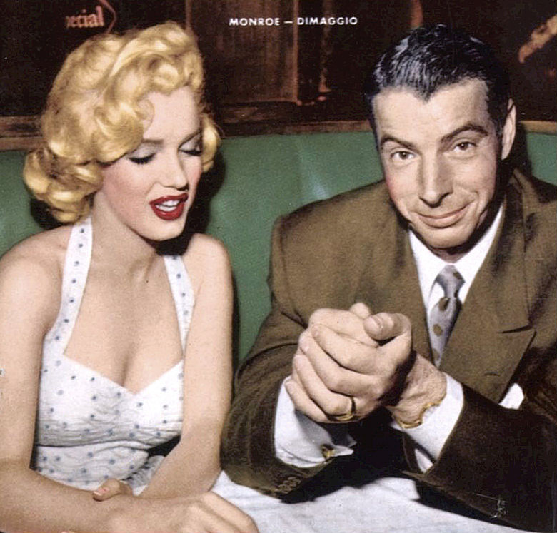 Marilyn Monroe and Joe DiMaggio magazine cover