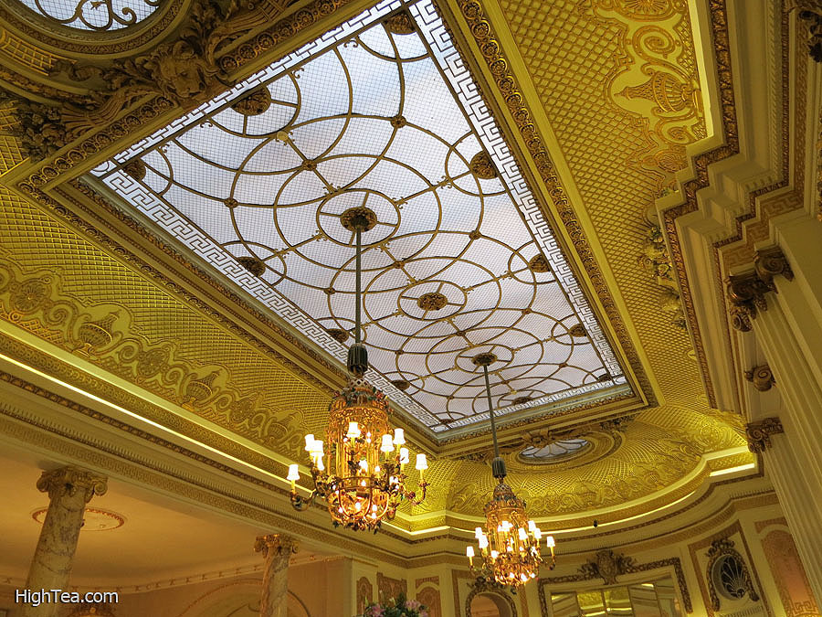 Ceiling of The Palm Court at The Ritz London Hotel