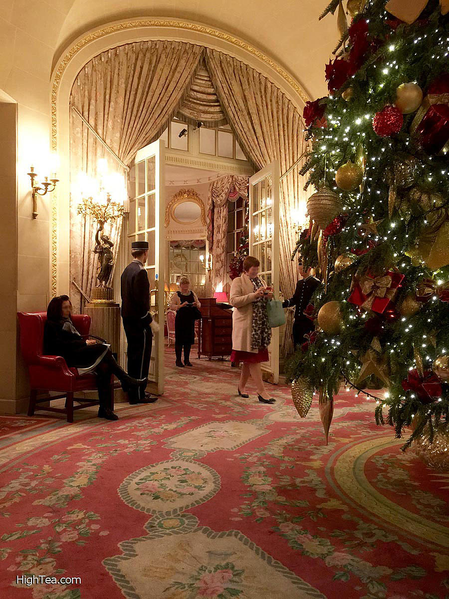 The Ritz London Lobby Decorated for Christmas