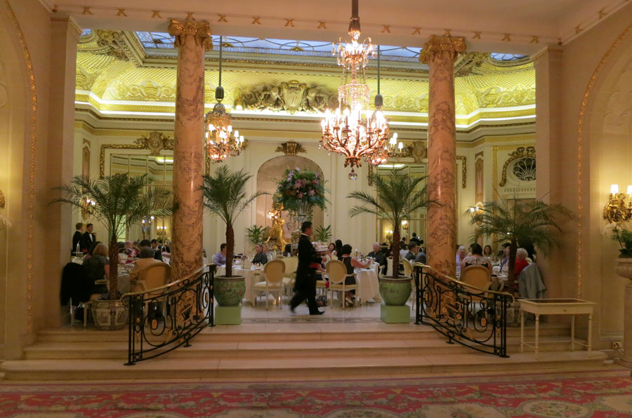 The Palm Court at The Ritz London in Evening Light
