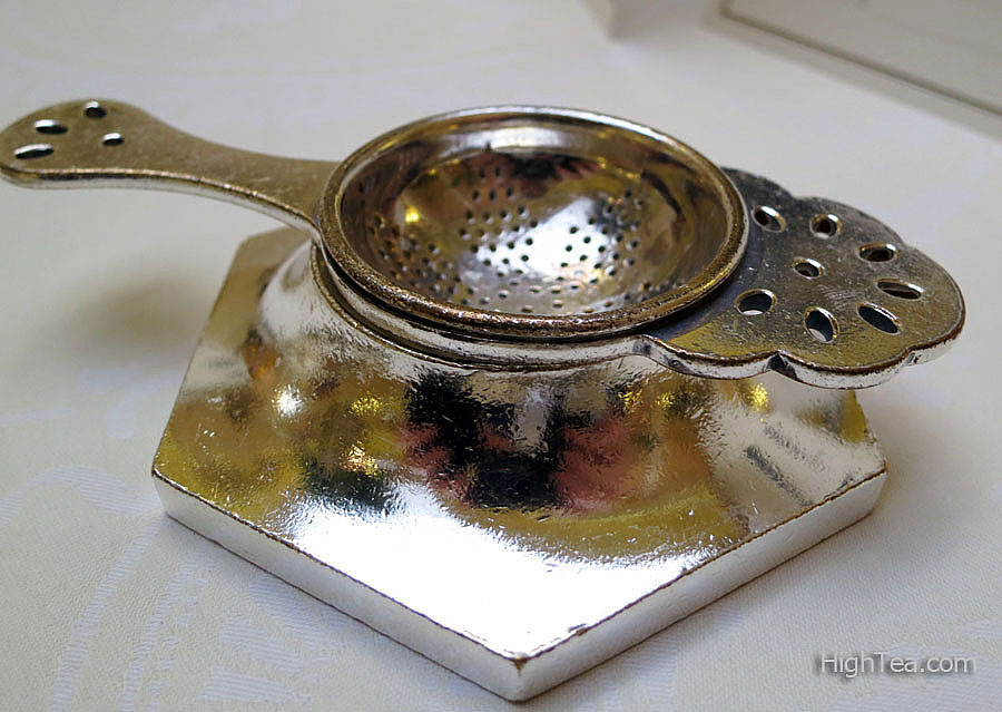Silver Tea Strainer for Afternoon Tea the Ritz London's Palm Court