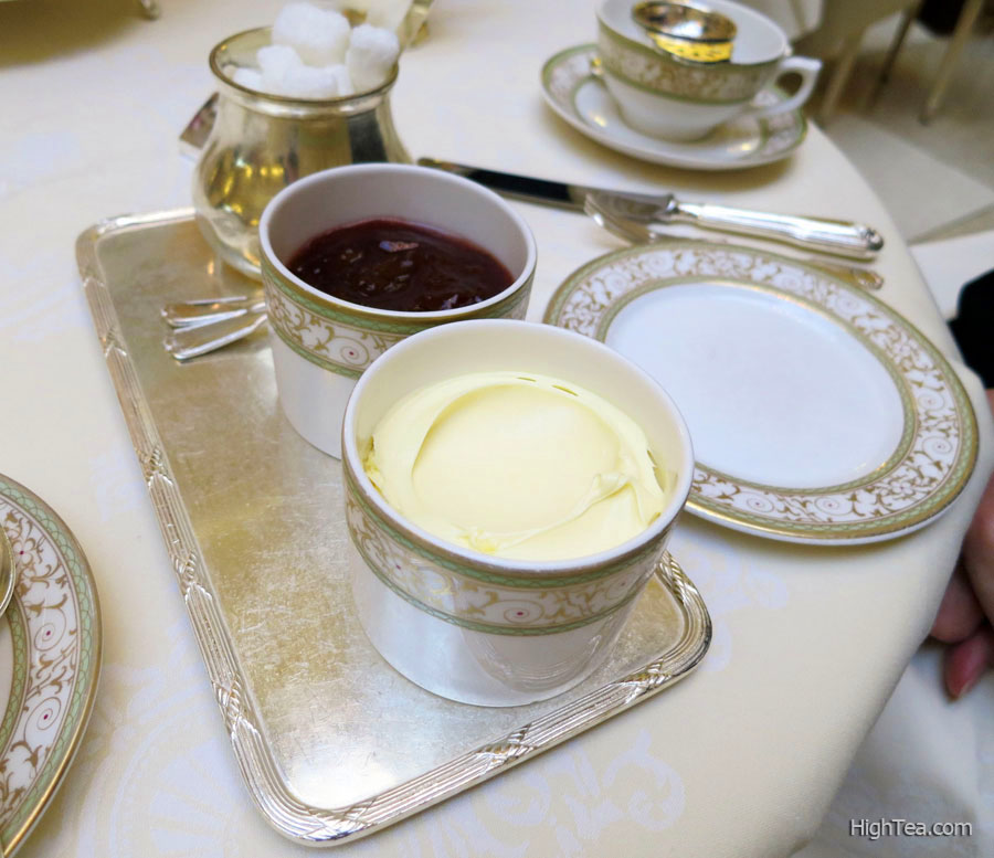 Clotted Cream and Strawberry Preserve for Afternoon Tea at The Ritz London