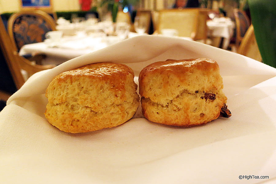 Scones served at The Plaza Hotel New York for afternoon tea