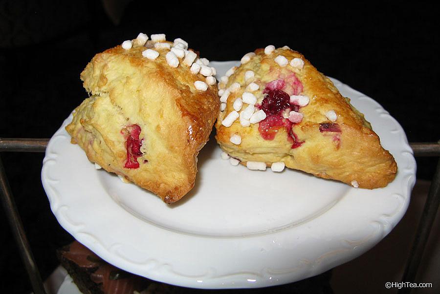 Buttermilk currant scones Waldorf Astoria New York Afternoon Tea