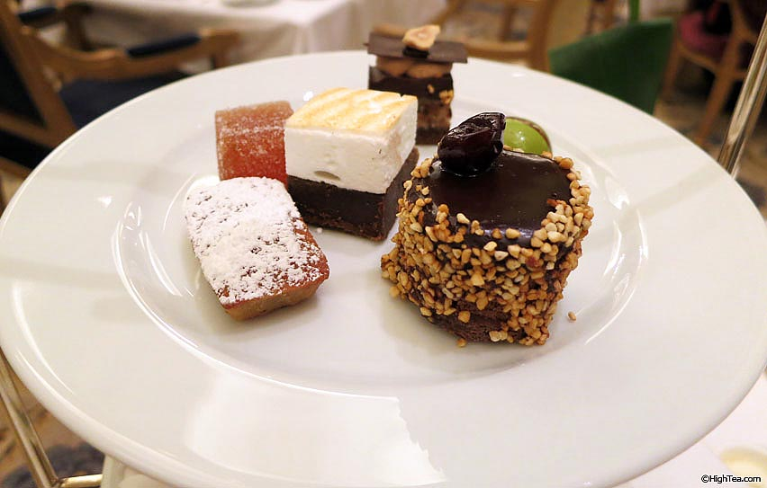 sweets and pastries for afternoon tea in The Plaza Hotel New York high tea