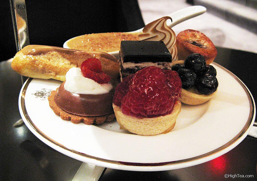 Sweets and pastries tier for afternoon tea at The Pierre Hotel New York City