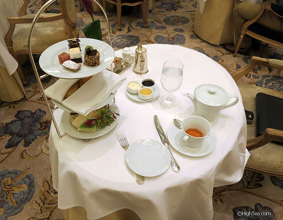 Table Setting for Afternoon Tea at Plaza Hotel New York in The Palm Court