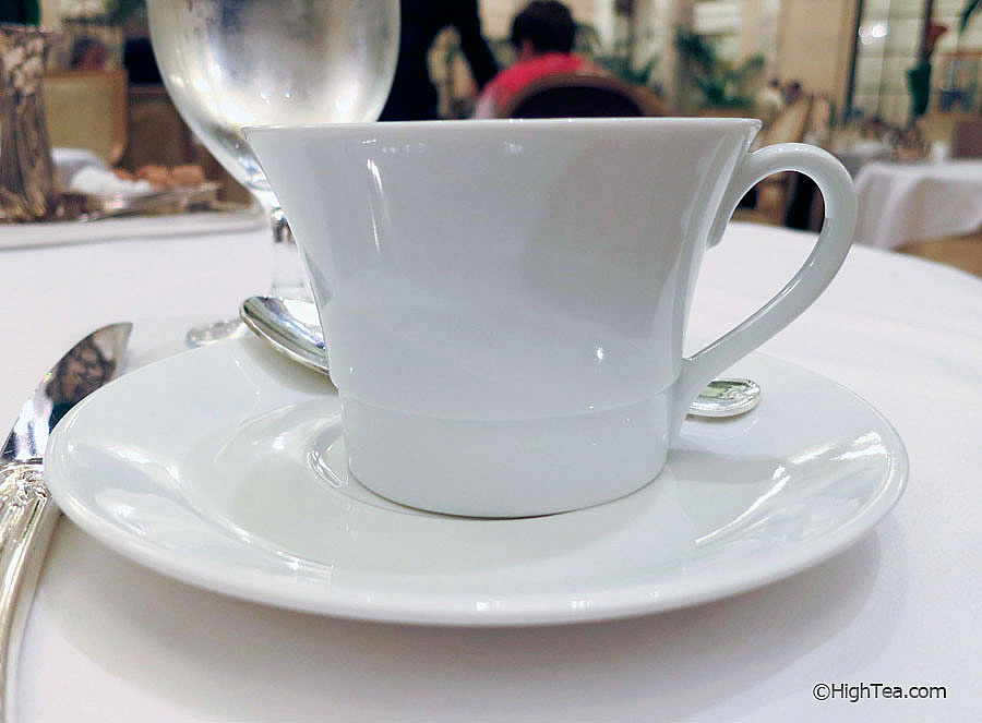Bernardaud Porcelaine Teacup at The Plaza Hotel for afternoon tea