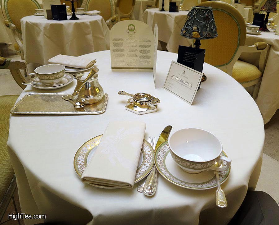 Table Setting for Afternoon Tea at The Ritz London