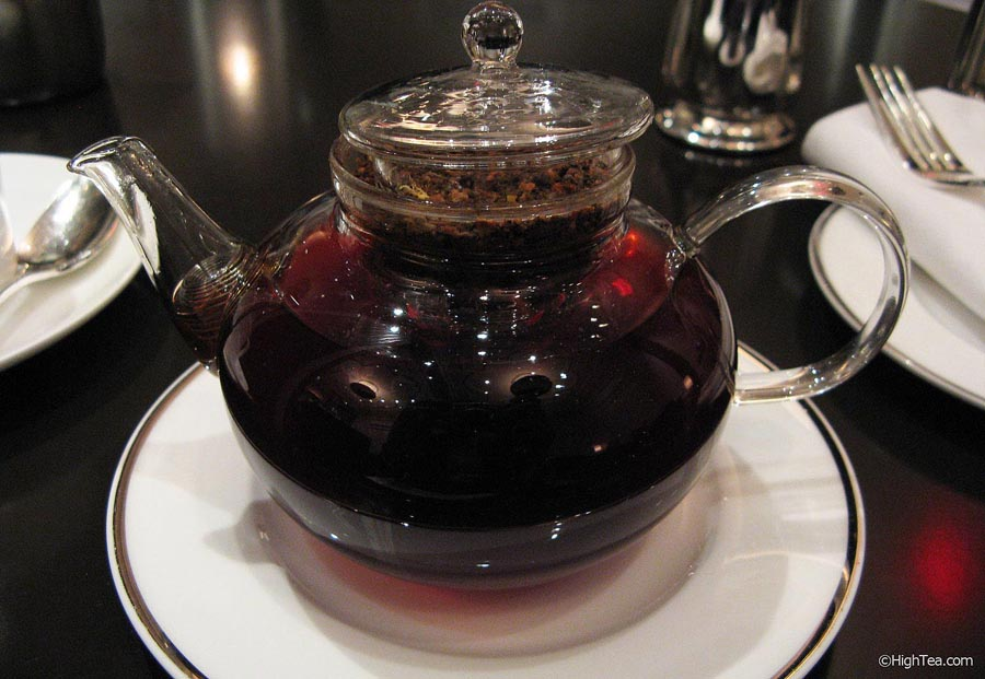 Glass Teapot at The Pierre Hotel New York City for Afternoon Tea