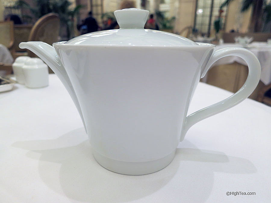 Bernardaud Porcelaine Teapot at The Plaza Hotel for afternoon tea