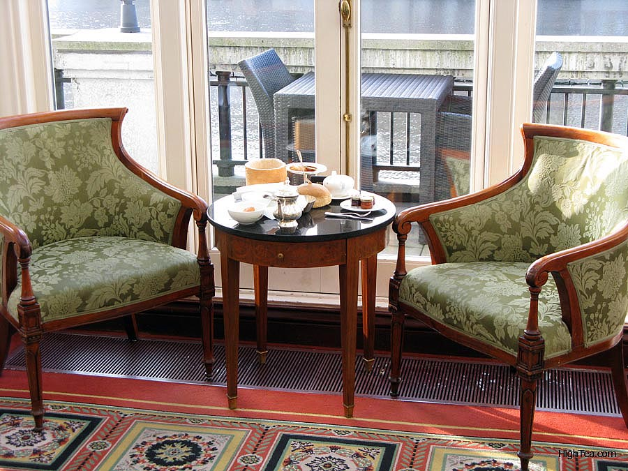Afternoon Tea at Amstel Hotel in the Bar and Brasserie Amsterdam Netherlands by river Amstel