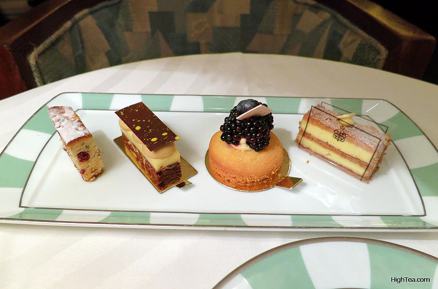 Sweets and pastries for afternoon tea at Claridge's London Mayfair