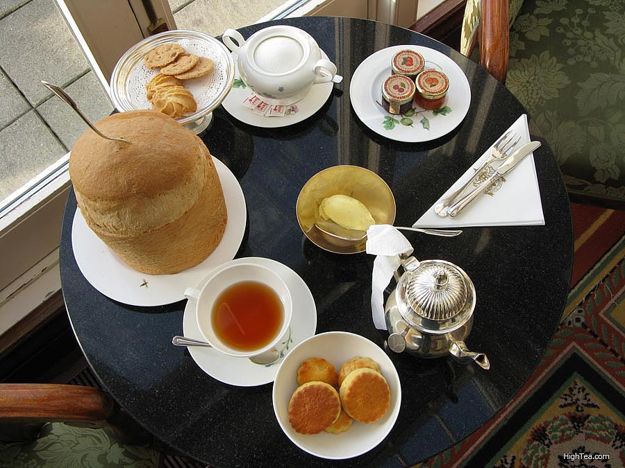 Tea Table Setting Afternoon Tea Amstel Hotel Amsterdam Netherlands