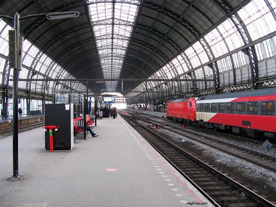 Centraal Train Station Interior Amsterdam Netherlands