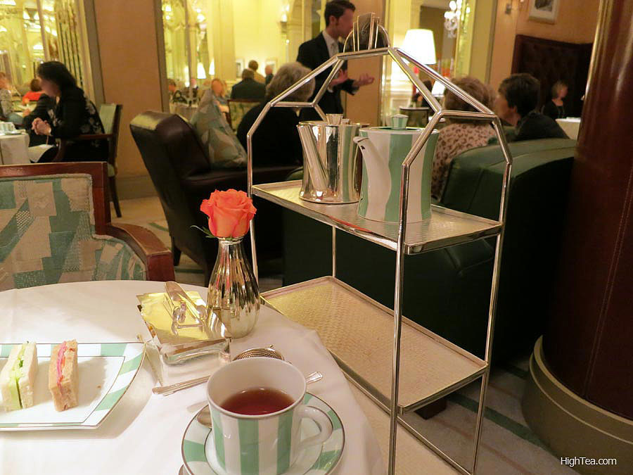 Cake stand Claridges afternoon tea in London Mayfair