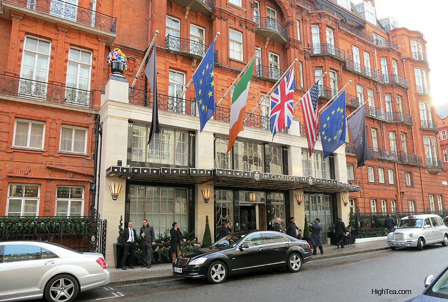 Claridges Hotel Entrance in London Mayfair on Brook St
