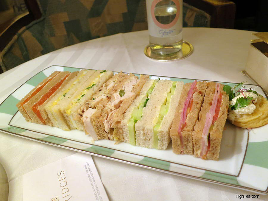Finger sandwiches at Claridges Afternoon Tea in London Mayfair