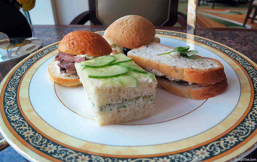 Finger sandwiches tea sandwiches at The Peninsula Hotel Chicago afternoon tea