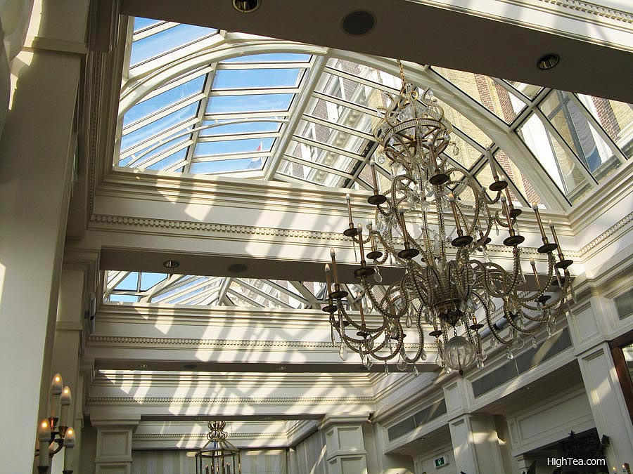Glass ceiling of Bar And Brasserie Intercontinental Amstel Hotel Amsterdam Netherlands
