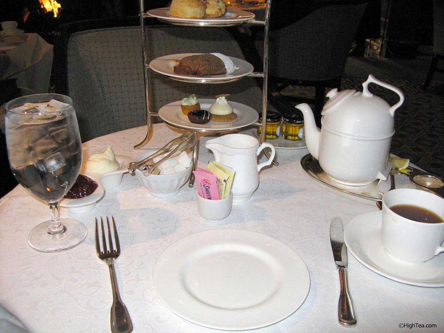 Table setting for afternoon tea at The Four Seasons Hotel Chicago