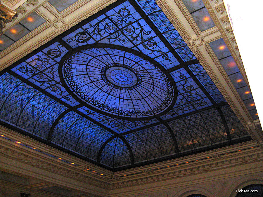 Laylight or lay light ceiling Plaza Hotel New York City Palm Court