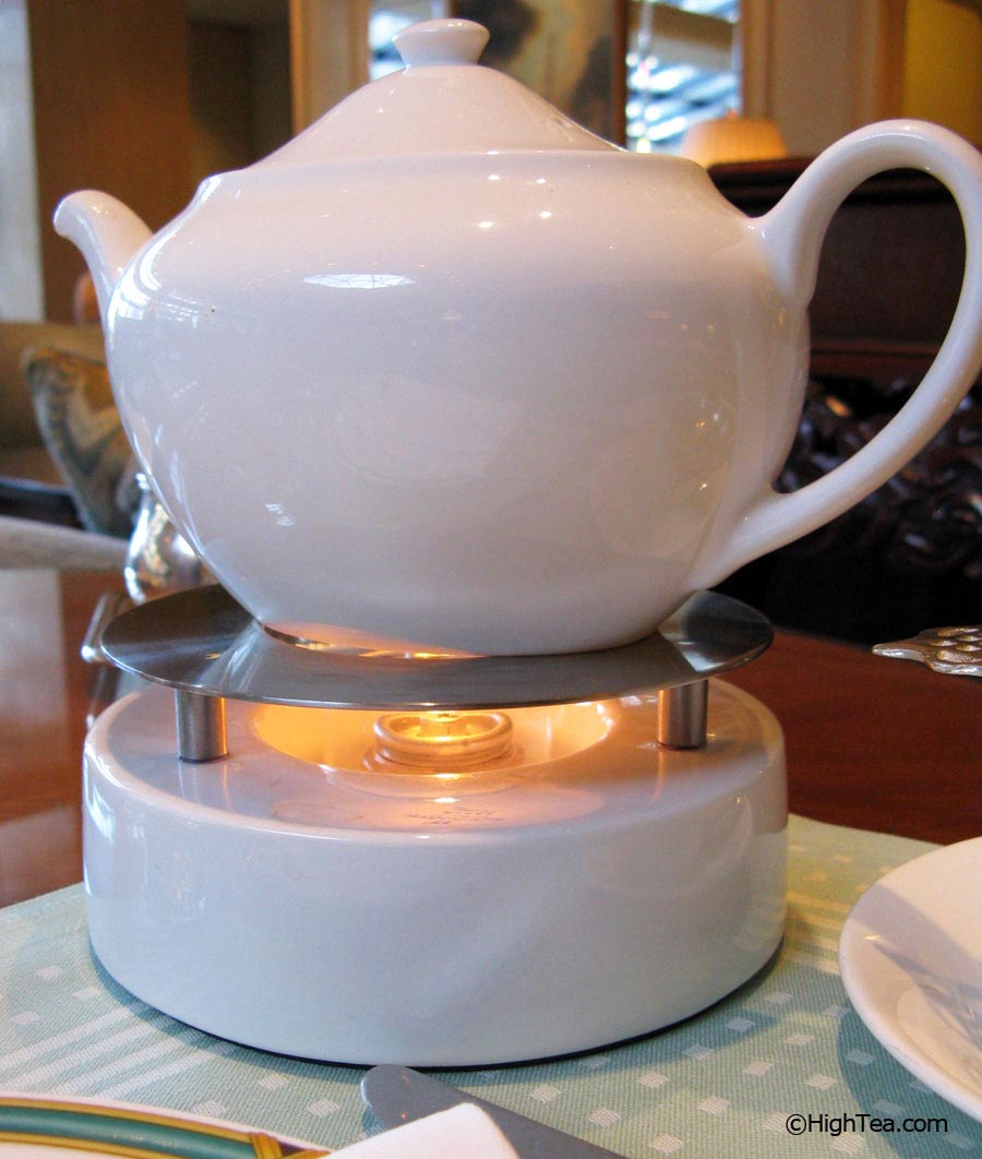 Narumi bone china teapot at The Ritz Carlton Chicago Afternoon Tea