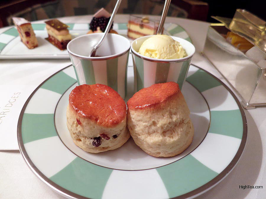 Scones at Claridges for Afternoon Tea with Marco Polo jam in London Mayfair