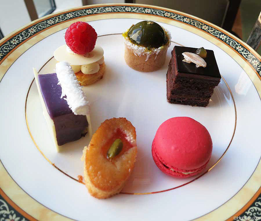 Sweets, pastries and cakes for afternoon tea at Peninsula Hotel Chicago