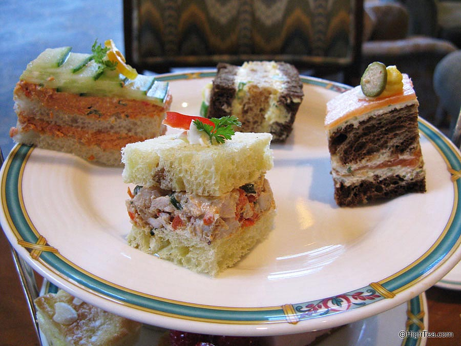 Finger sandwiches at the Ritz Carlton Chicago Hotel for afternoon tea