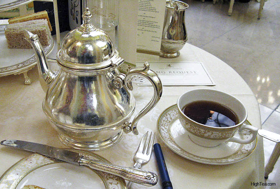 Silver teapot at The Ritz London Afternoon Tea