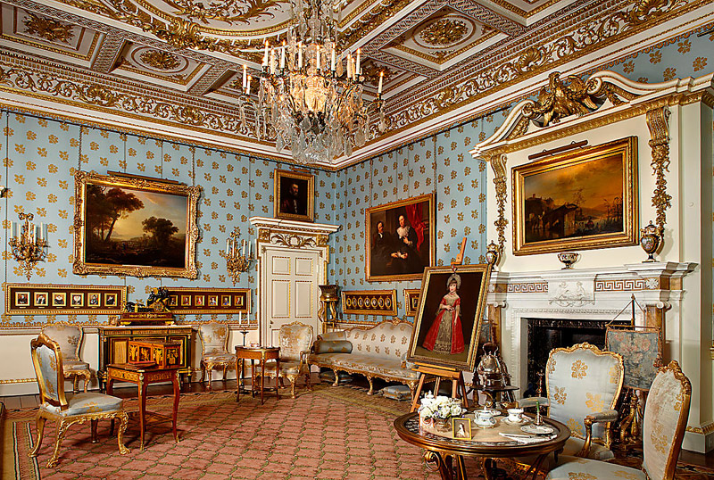 The Blue Drawing Room where Anna Russell entertained guests for Afternoon Te